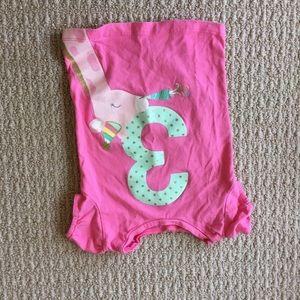 Toddler pink 3 year birthday shirt
